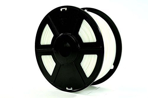 USAFilament 9800422 PLA 3D Printing Filament, 2.2 lb., 1.75 mm, White Spool