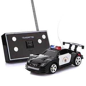 hometall mini rc remote control police car. Black Bedroom Furniture Sets. Home Design Ideas