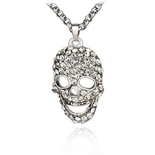 Silver Skull Locket Necklace - 2