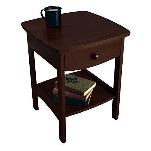 Winsome Wood End Table/Night Stand with Drawer and Shelf