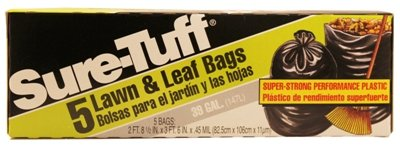Sure-tuff Lawn & Leaf Bag 39 Gallon (light Green) (Pack of 15)