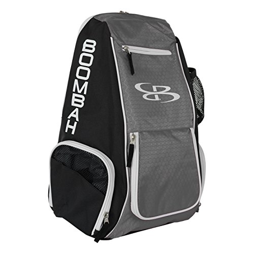 Boombah Spike Volleyball Backpack - Black/Gray - Holds Ball, Shoes, Water Bottle and More]()