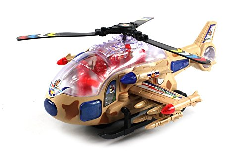 High Class Power Force Battery Operated Bump and Go Toy Helicopter w/ Flashing Lights, Sounds ()