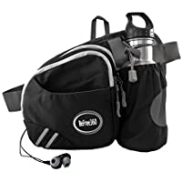 BeFree360 Hiking Waist Bag Fanny Pack with Water Bottle Holder Men Women Running Dog Walking Travel Cycling Holds iPhone8 Plus