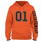 The General Lee 01 Custom Hoodie V8 Dodge Charger (S, Orange)