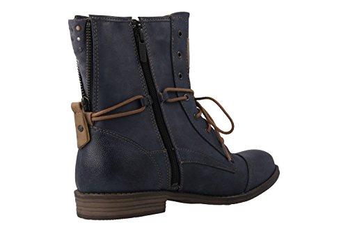 MUSTANG - Damen Boots - Blau Schuhe in Übergrößen