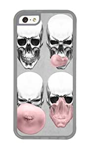 Apple Iphone 5C Case,WENJORS Personalized Skulls chewing bubblegum Soft Case Protective Shell Cell Phone Cover For Apple Iphone 5C - TPU Transparent