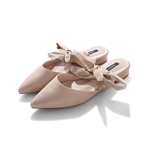 Sandals Heel Black Straps B Bottom cn35 5 Flat Eu36 Size uk3 B Single Amazing Shoes color Summer Low Spring 8pv84r