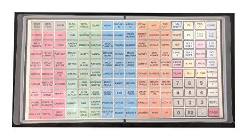 SAM4S ER-5200M, SPS-520FT, SPS-530FT, SER-7000, SAP-530FT / Flat Keyboard Cover Silicone Skin Cash Register Protective WetCover Overlay