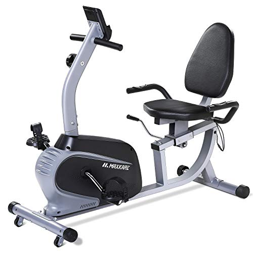 MaxKare Recumbent Exercise Bike Indoor Cycling Stationary Bike with Adjustable