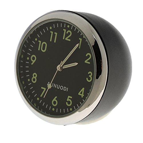 MonkeyJack Fluorescent Black Car Dash Mini Quartz Watch Clock Stainless ()