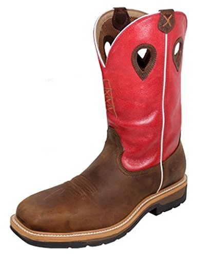 Pictures of Twisted X Men's Lite Cowboy Work Red 1