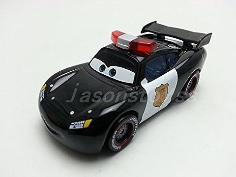 Mattel Disney Pixar Cars Police Lightning McQueen Diecast Metal Toy Car 1:55 Loose New In Stock - Cars Mega Mack Playset
