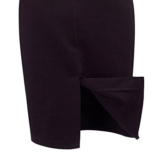 Homeyee® cuello de pico, vestido entubado forma de lápiz B248, para dama morado