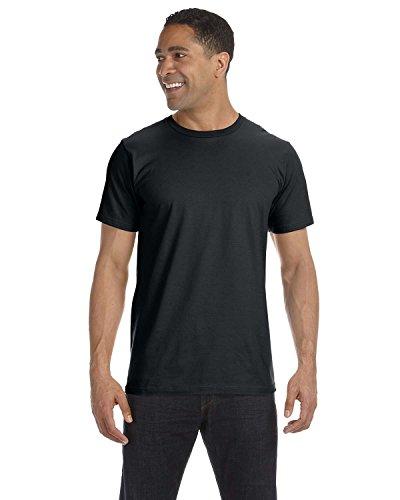 Anvil Herren Asymmetrischer T-Shirt xl schwarz