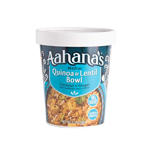 Aahana's Lentil and Rice Bowls - Gluten Free, NON-GMO, Vegan Food with 15g Plant-Based Protein - Ready-to-Eat, Vegetarian Meals, Just add Water - No Refrigeration Required - Variety 4- Pack 2.3 Oz 4