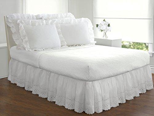 Eyelet Ruffled Bedskirt Ruffled Bedding With Gathered