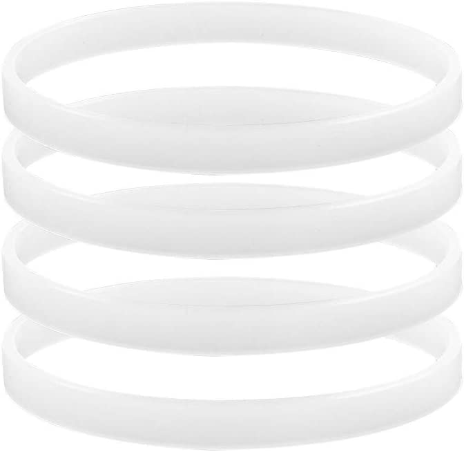 4 x Rubber Gasket Sealing O Ring Gasket Replacement Parts for Ninja Juicer Blender,10 cm/ 3.94 Inch in Diameter,The thickness is 0.11 Inch/0.3cm-Hushtong