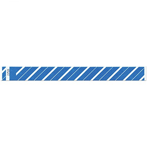 Striped Tyvek Wristbands for Event Identification and Adm...