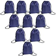 Drawstring Bags Bulk for Kids, Large Nylon Gym String Gift Backpack for Tie-dye