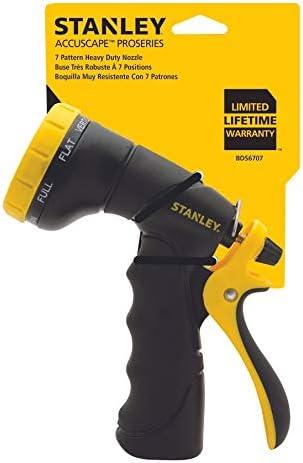 Color Negro y Amarillo Pistola de pulverizaci/ón con Boquilla Resistente Stanley Accuscapea ProSeries 8