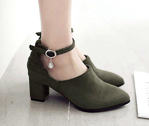 Top Donna Taglia 6 Scarpe Nero Vera Pelle Con Cinturini alla Caviglia Tacco 3 marchio successivo