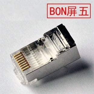 Cable Length: 100pcs per Box RJ45 Network Cable Connector - Shielded Plug ShineBear Network RJ45 Cat5e STP Modular Plugs Connector for Cat5ecable