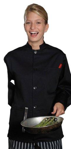 Edwards Single Breasted Server Coat, BLACK, XLarge