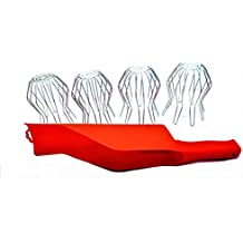 Greater Essentials 4-pack of 3 inch Flexible Round Wire Strainers and a Gutter Getter scoop. Prevent Gutter Blockage. Quick and Easy Installation and maintenance.