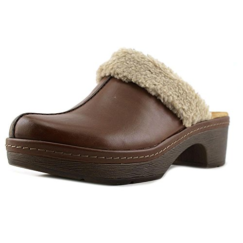 (CLARKS Women's Preslet Grove Dark Tan Leather Clog/Mule 8 B (M))