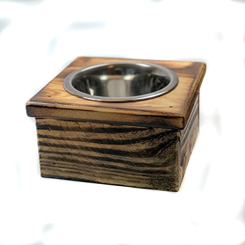 Single Small Elevated Dog Dish // Small Feeding Stand // Dog Dish // Elevated Dog Bowl by 6 Dogs Decor