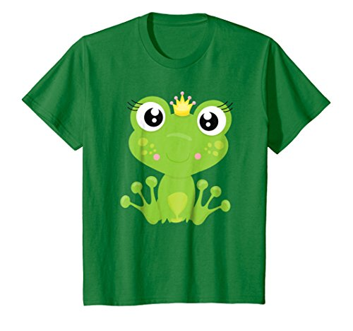 Price comparison product image Kids Cute Unique Cartoon Frog Prince Art T-Shirt & Gift G999985 12 Kelly Green