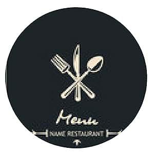 alfombrilla de ratón El diseño del menú con un tenedor, cuchara y cuchillo - ronda - 20cm