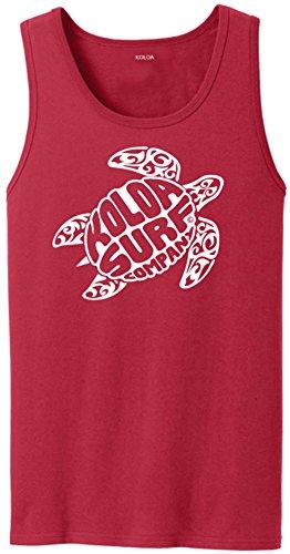 Joe's USA Koloa Surf Original Turtle Logo Heavyweight Cotton Tank Top-Red/w-2XL (Original Vintage T-shirt Graphic)