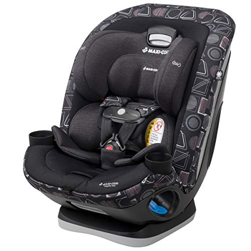 Maxi-Cosi Magellan Max All-in-One Limited Edition Convertible Car Seat with 5 Modes and Magnetic Chest Clip, Geo Quarry