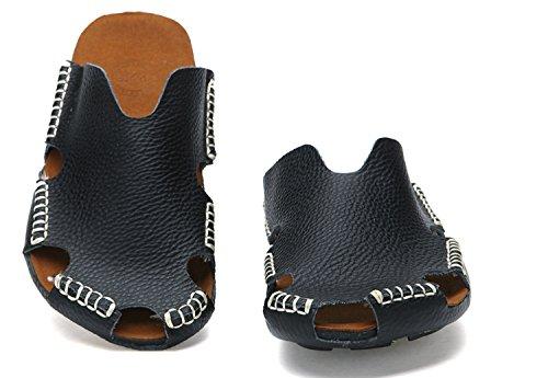 Hombres de Transpirables Zapatillas de Chanclas Absorbentes Respirables los Sandalias Sudor Moda Confort Durables Natural de Cuero Ocasionales Nuevas q64vIwP