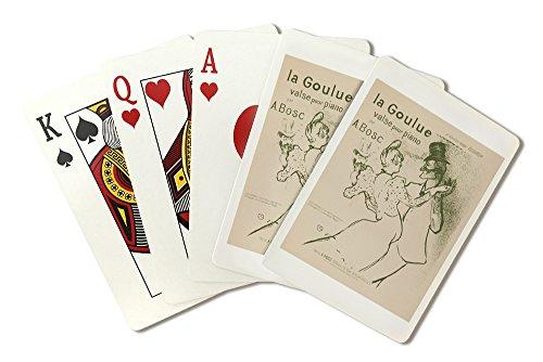 (La Goulue (song sheet cover) Vintage Poster (artist: Toulouse Lautrec, Henri De) France c. 1894 (Playing Card Deck - 52 Card Poker Size with Jokers))