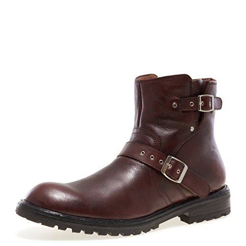 Jump Newyork Men's BYKER Pull-on Engineer Boot with Zipper Brown 11 D US ()