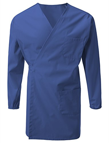 7 Encounter Unisex Multifuctional Wrap Smock with Chest and Side Pockets Royal Blue Size L/XL (Wrap Smock)
