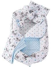 5-delad babynest-set babybo 90 x 50 avtagbar insats säng mysigt bo krypande filt medi partners för spädbarn nyfödda 100 % bomull