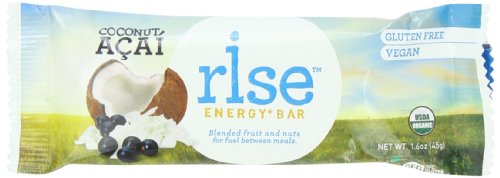 Rise Bar Organic, Vegan Energy Bars, Variety Pack, 12-Count