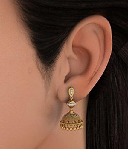 Or jaune 18K 0.16CT TW White-diamond (IJ | SI) Pendants d'oreilles