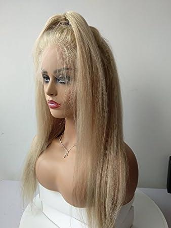 Amazon Com Soft Blonde Peruvian Virgin Human Hair Lace Front Wigs