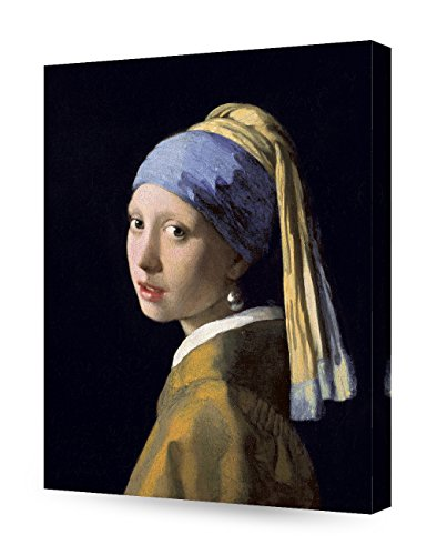 DECORARTS - Girl with A Pearl Earring, Johannes Vermeer Art Reproduction. Giclee Canvas Prints Wall Art for Home Decor 20x16 ()