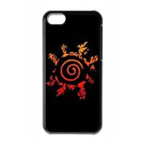 iPhone 5c Cell Phone Case Black Naruto WCO Customized Back Phone Case