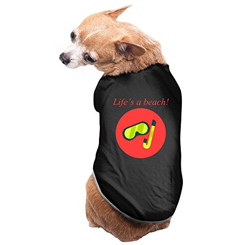 Aip-Yep Cute Lifes A Beach Diving Goggles Logo Pet Doggie Pets Costumes Black Size - Costume Triathlon