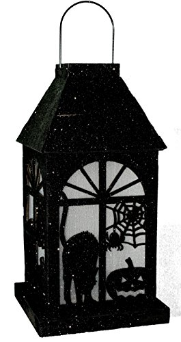 Tii Collections Halloween LED 10 Inch Lanterns (Black