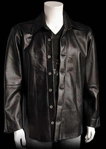 Mens Lambskin Jacket 100% Leather by Couture retro/vintage/singer/music/artist (Couture Leather Jackets)