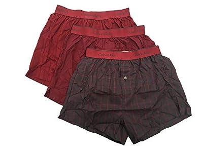 Calvin Klein Men`s Cotton Slim Fit Boxers 3 Pack
