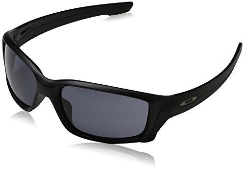 Oakley Men's OO9331 Straightlink Rectangular Sunglasses, Matte Black/Grey, 61 ()